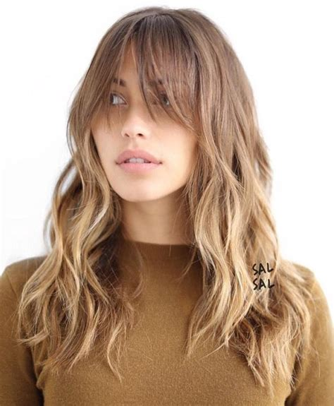 hairstyles with light bangs 40 cute and effortless long layered haircuts with bangs