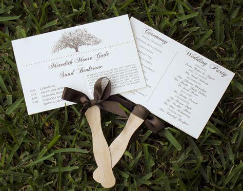 paper fan wedding programs tree themed wedding program fans lace embellished
