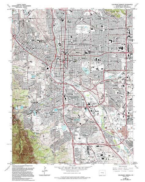 to colorado map colorado springs topographic map co usgs topo 38104g7