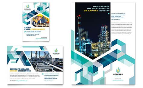 Oil Gas Company Flyer Ad Template Print Ad Design Templates