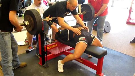 how many pounds is a bench press bar laura phelps sweatt 510 pound bench press at the spf