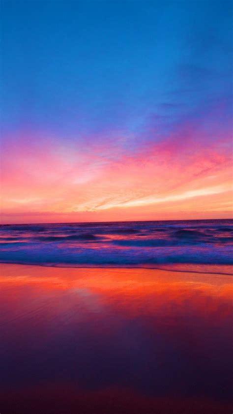 sunset beach ocean iphone wallpaper cute wallpapers