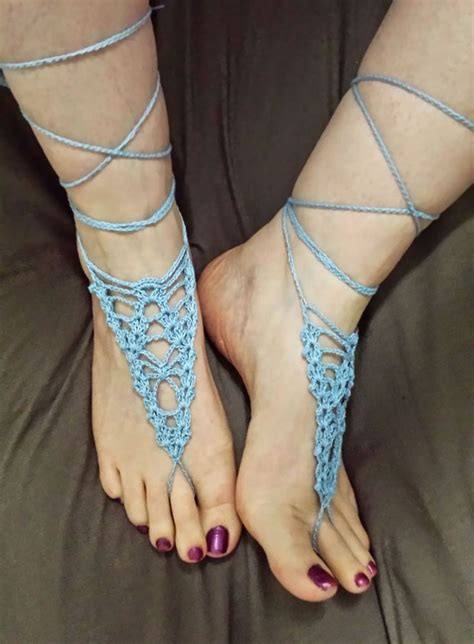 knitted barefoot sandals pattern 365 crochet arachnid barefoot sandals free crochet