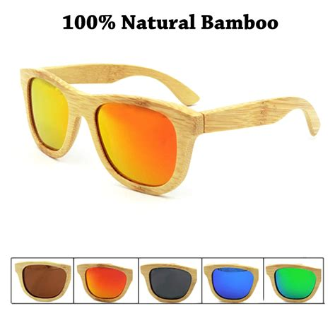 New 2016 Bamboo Sunglasses Wooden Glasses Brand Designer Ori 2016 cool wooden sunglasses unisex summer style bamboo sun