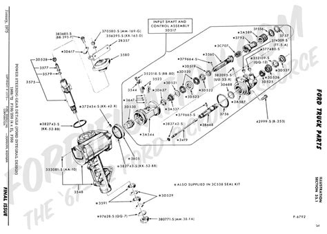 ford truck technical drawings  schematics section  steering systems  related components