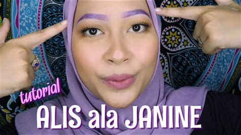 tutorial alis ala artis tutorial bikin alis ala janine intansari how to make