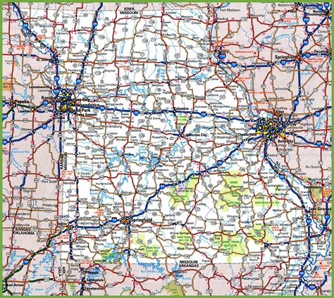 maps usa road missouri road map
