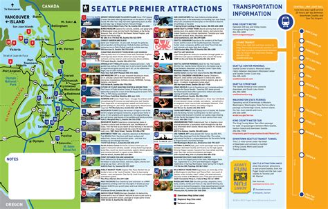seattle map with attractions maps update 700698 seattle washington map tourist 11