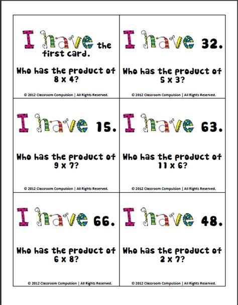 i who has math cards template classroom compulsion a math freebie