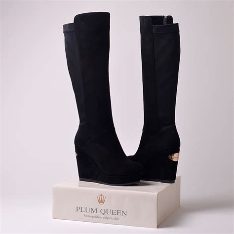 new 2015 fashion genuine leather boots platform