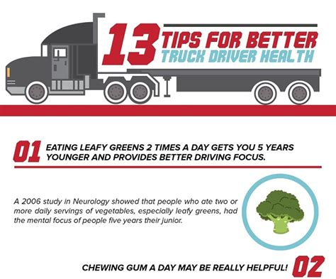 infographic 13 tips for better truck driver health fueloyal
