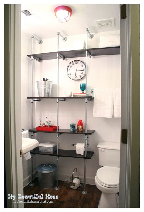 Bathroom Pipe Shelving 17 Best Images About Bathroom On Toilets
