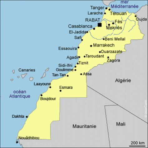carte du maroc planet expert partenaire des pme 224 l