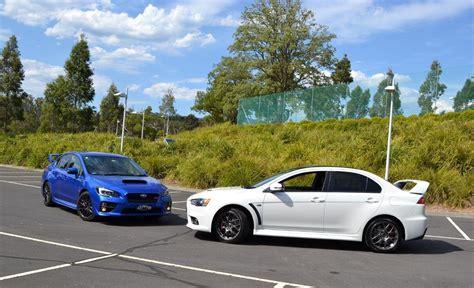 Review Mitsubishi Lancer Evo Vs Subaru Impreza Wrx Sem