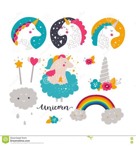 imagenes de unicornios bebes sistema del unicornio y del arco iris del beb 233 ilustraci 243 n