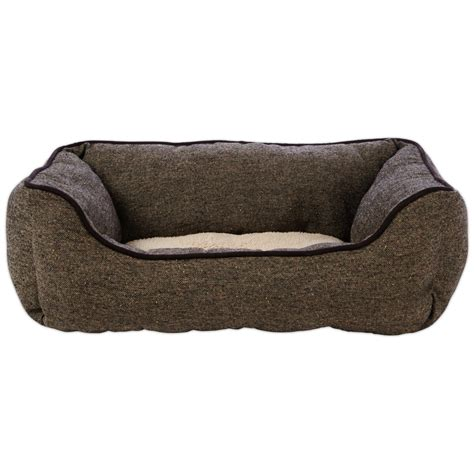 petco dog bed harmony nester dog bed in brown tweed petco