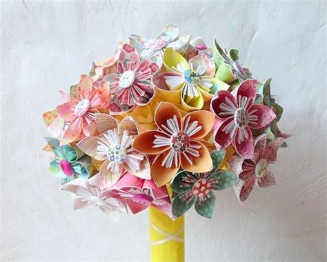 Origami Wedding Bouquet - origami bridal bouquet