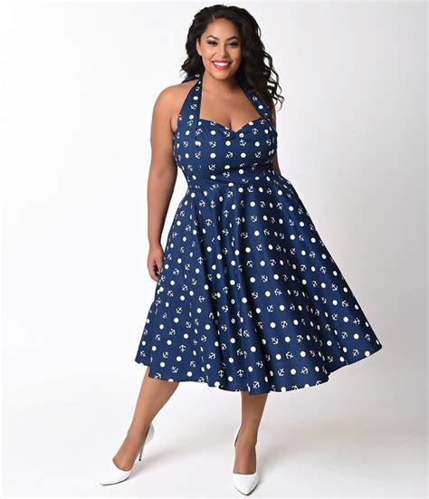 Maxi Dress Mariana Polka Dress 21573 best vintageandcurvy plus size fashion