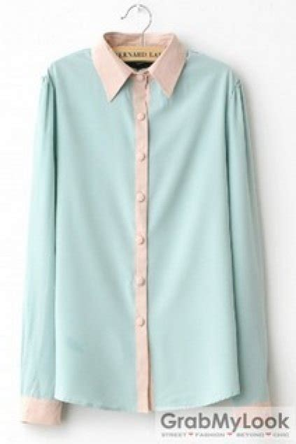 Pastel Blouse by Apparel Blouse Sweet Pastel Color Sleeves Shirt