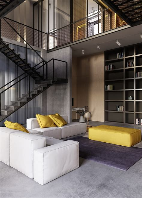 Industrial Stil by An Industrial Inspired Apartment With Sophisticated Style