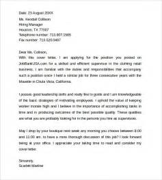 supervisor cover letter template simple cover letter templates 8 sles exles