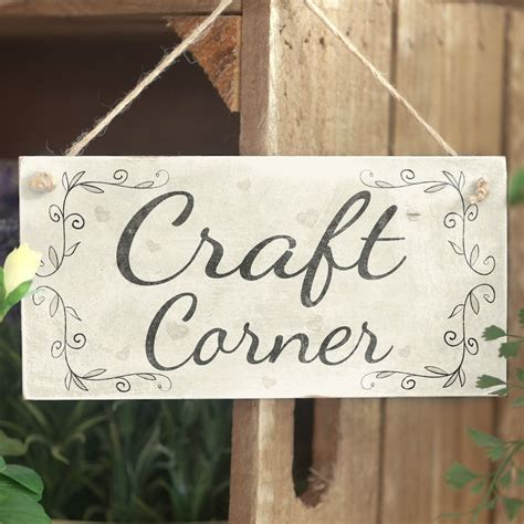 Handmade Sign - craft corner handmade rustic country wooden decor door
