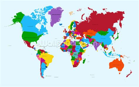 design by humans europe colour map of the world wallpaper wall mural wallsauce usa