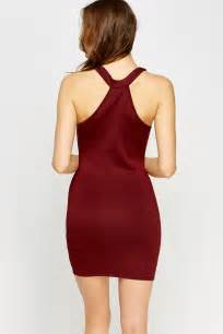 High Neck Maroon by High Neck Maroon Bodycon Dress Just 163 5