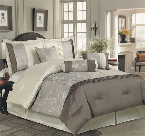7pcs king yurika taupe beige comforter bedding set ebay