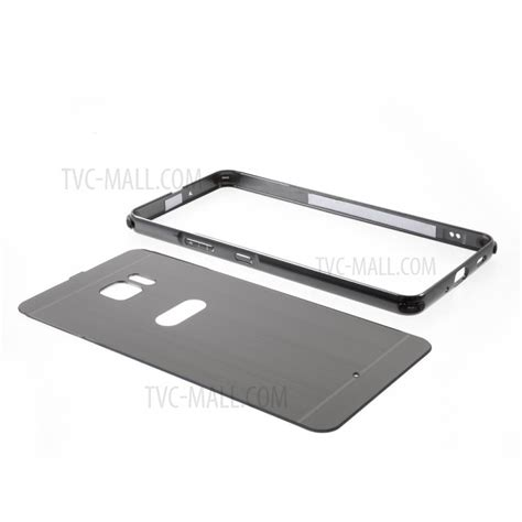 Htc U11 Brushed Metal Slide Casing Cover slide on brushed pc plate metal bumper hybrid cover for htc u ultra black tvc mall