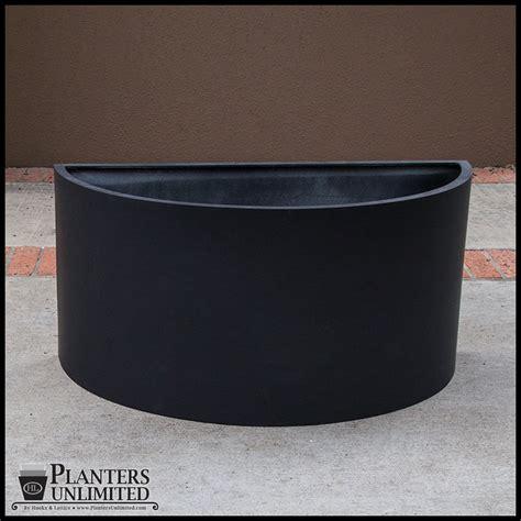 Half Planter Pots half fiberglass planter 30in l x 15in w x 24in h