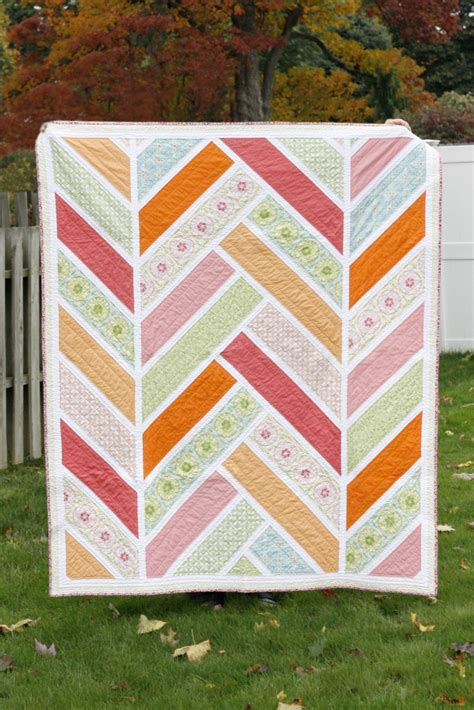 Quilt Pattern Herringbone | modern herringbone quilts and blocks