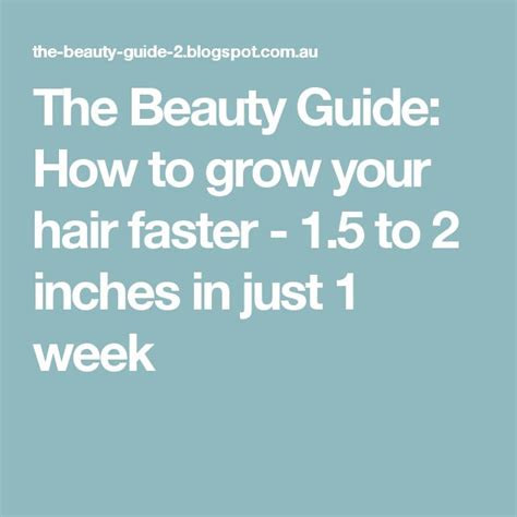 grow hair 5 inches in one week 8 best images about hair on pinterest big bows it is