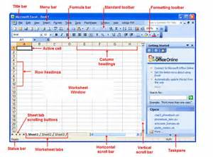 Excel Spreadsheet Parts by Microsoft Excel Basic Parts Teach And Learn