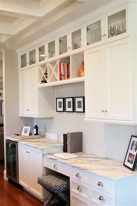 desk with cabinets above best 20 kitchen desk areas ideas on kitchen