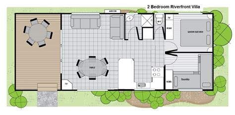 2 bedroom villa floor plans 2 bedroom riverfront villa big4 renmark 187 big4 renmark