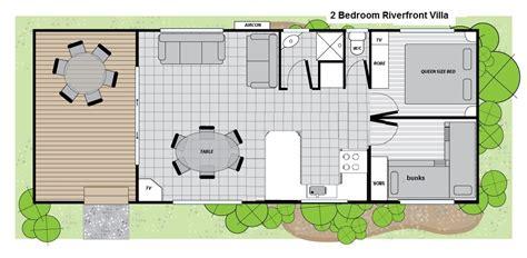 2 bedroom villa floor plans 2 bedroom riverfront villa big4 renmark 187 big4 renmark