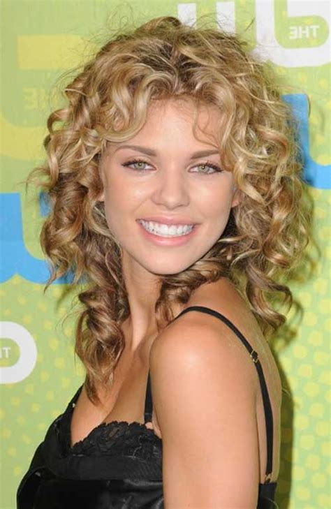 curly hairstyles for round faces over 40 medium length hairstyle with a round face shape dark