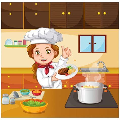 cocina chef chef cocinando en la cocina descargar vectores premium