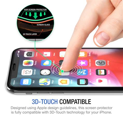 tethys glass screen protector designed  iphone xr