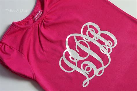 design a monogram shirt pitterandglink diy monogrammed t shirts with silhouette