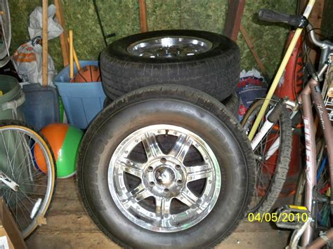 sale  chrome silverado  lug  spoke rims  brand  hankook tires chevrolet forum