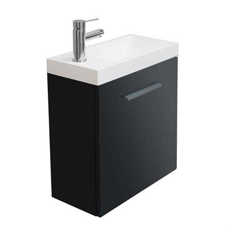 lavabo wc met kastje fonteinkastje emma met wastafel hoogglans grijs