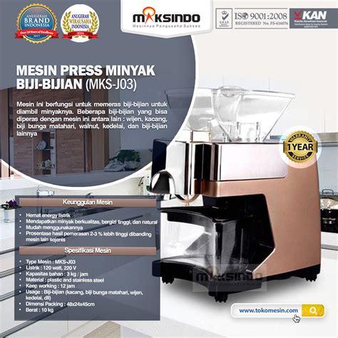 Jual Minyak Bulus Blitar jual mesin press minyak biji bijian mks j03 di blitar toko mesin maksindo blitar toko