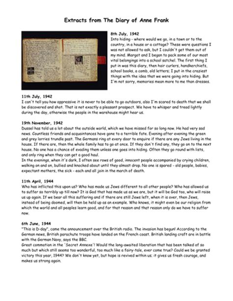 Anne Frank Biography Ks2 Planning | year 6 non fiction 1 biography and autobiography by