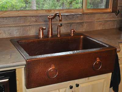 mountain rustic farm front copper kitchen sink mountain copper copper farm front sink with hand hammered copper rings