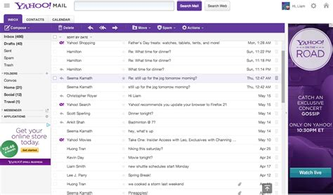 email yahoo web the new yahoo mail gets infinite scrolling preview pane