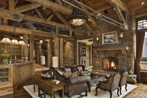 Rustic Rooms by Rustic Living Room Design Photos Decobizz