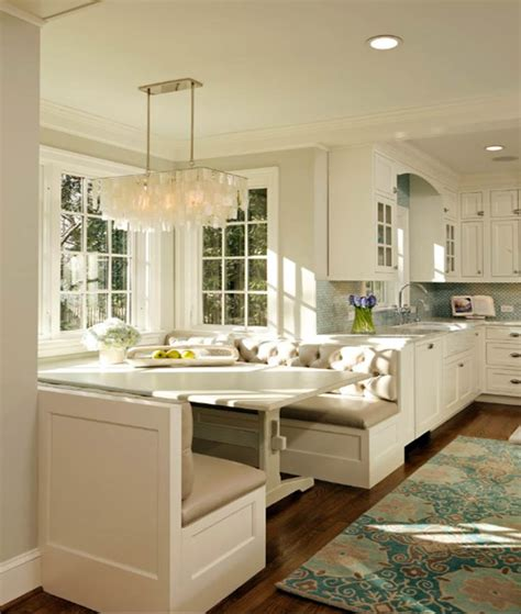 Kitchens With Banquette Seating kitchens and baths banquette built in 171 corinne gail interior design