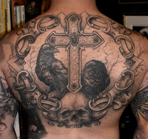 cross and skull tattoo tattoos designs ideas and meaning tattoos for you